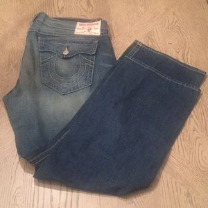 True Religion Mens straight Jeans- Sz 42W 34L
